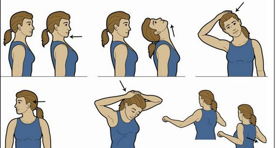 alongamento do pescoço